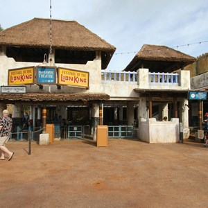 27 of 40: Festival of the Lion King - New Harambe Theatre area in Africa - The entrance, standby and FastPass+