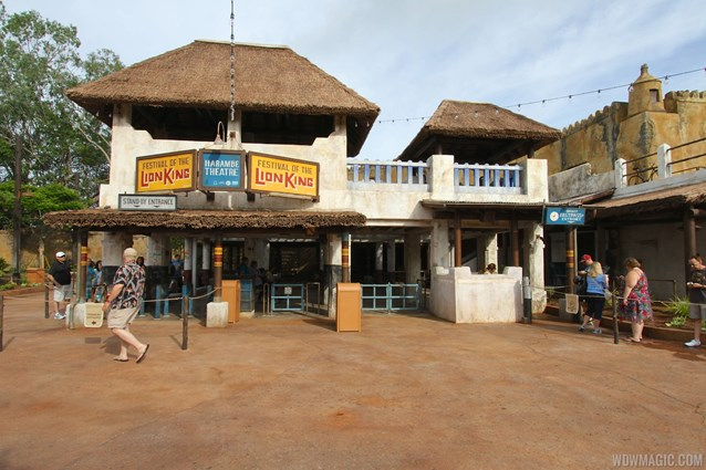 Festival of the Lion King - New Harambe Theatre area in Africa - The entrance, standby and FastPass+