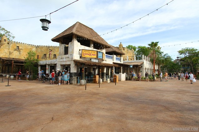 Festival of the Lion King - New Harambe Theatre area in Africa - Wide view of the Festival of the Lion King entrance