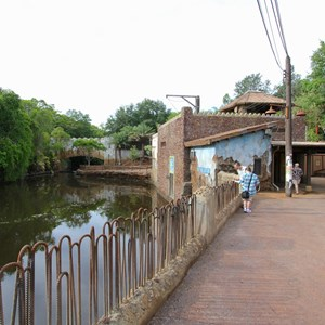 33 of 40: Festival of the Lion King - New Harambe Theatre area in Africa - Restroom area
