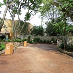 16 of 40: Festival of the Lion King - New Harambe Theatre area in Africa - Stroller Parking area