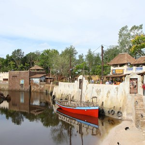 8 of 40: Festival of the Lion King - New Harambe Theatre area in Africa - View from the overlook