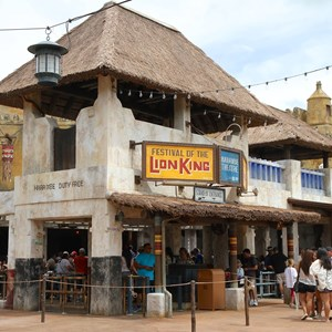 30 of 40: Festival of the Lion King - New Harambe Theatre area in Africa - Festival of the Lion King entrance