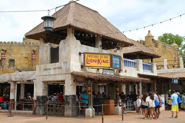 New Harambe Theatre area in Africa - Festival of the Lion King entrance
