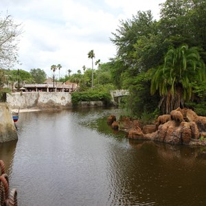 38 of 40: Festival of the Lion King - New Harambe Theatre area in Africa - Looking back towards Harambe