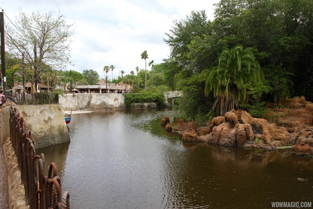 Festival of the Lion King - New Harambe Theatre area in Africa - Looking back towards Harambe