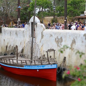 10 of 40: Festival of the Lion King - New Harambe Theatre area in Africa - View of the river