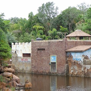 34 of 40: Festival of the Lion King - New Harambe Theatre area in Africa - Restroom buildings