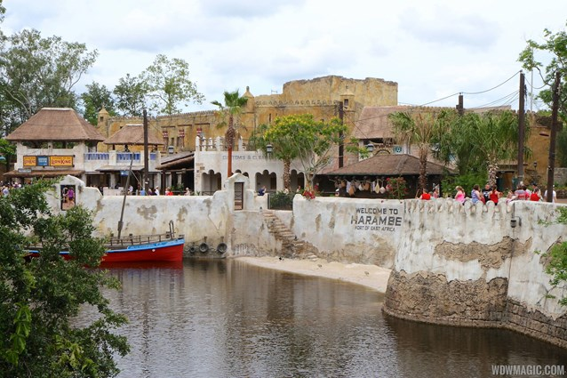 Festival of the Lion King - New Harambe Theatre area in Africa - View from Discovery Island bridge