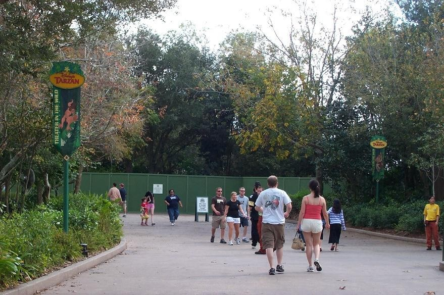 Tarzan now closed and construction work underway