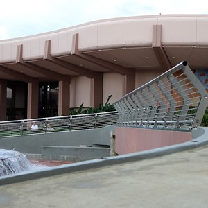 1 of 4: Fountain of Nations - Railing installation on stage