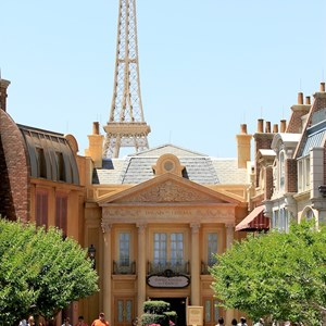 2 of 22: France (Pavilion) - The Eiffel Tower reproduction was built from original Gustave Eiffel plans at 1/10th scale