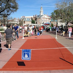 1 of 3: Frontierland - Frontierland concrete paving work