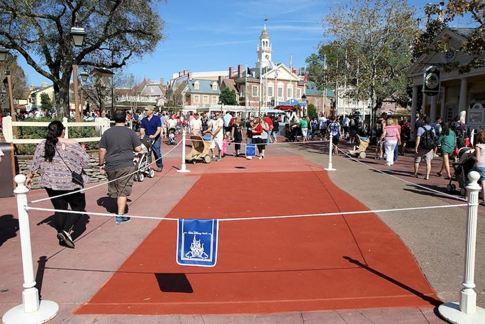 Frontierland concrete paving work