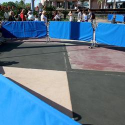 Innoventions Plaza concrete walkway refurbishment