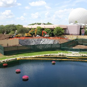2 of 5: Future World - Utility work in Epcot Future World