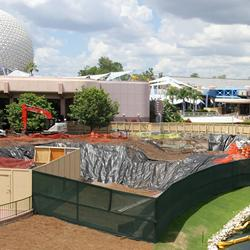 Utility work in Epcot Future World