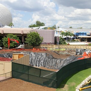 3 of 5: Future World - Utility work in Epcot Future World