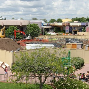 4 of 5: Future World - Utility work in Epcot Future World