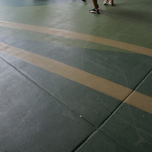 4 of 4: Future World - New flooring in breezeway