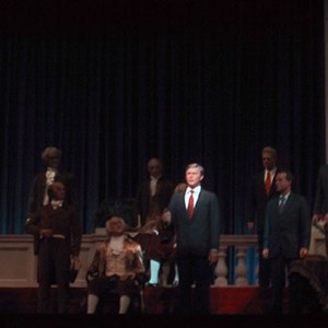 1 of 1: Hall of Presidents - President Bush in the new Hall of Presidents