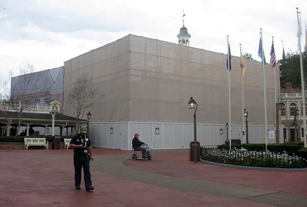 Hall of Presidents exterior refurbishment