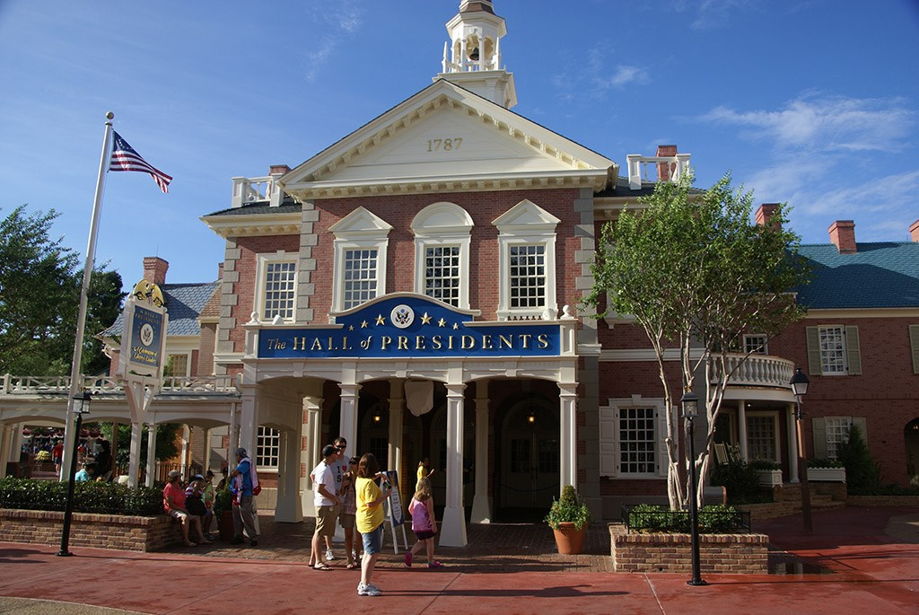 Hall of Presidents newly refurbished exterior