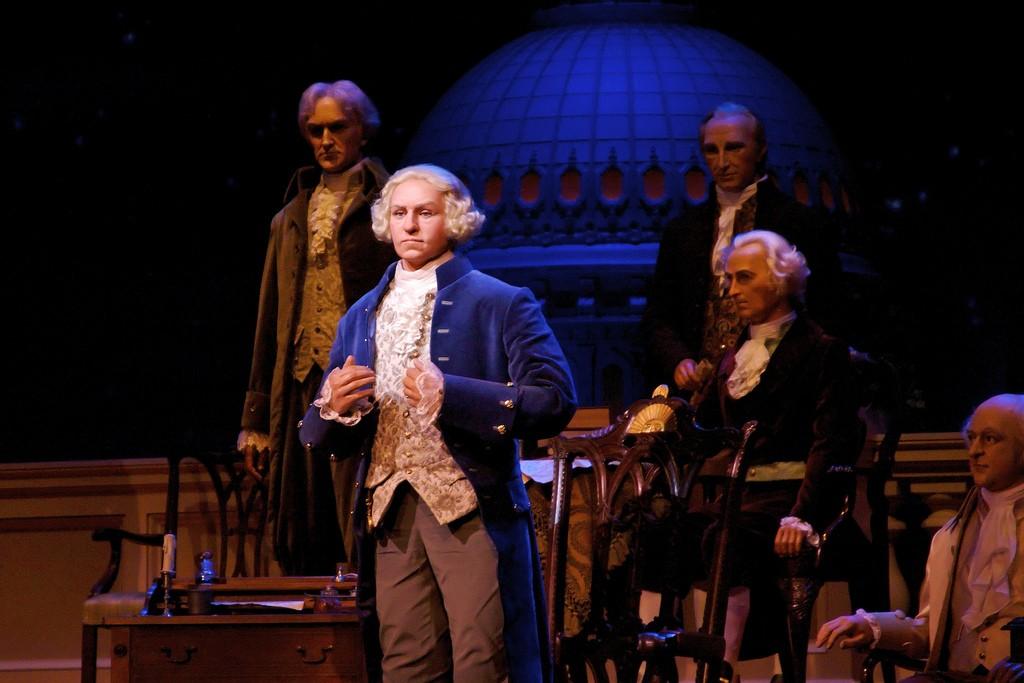 Hall of Presidents - George Washington in the newly refurbished Hall ...
