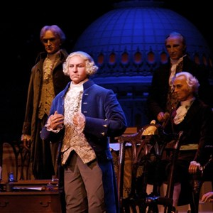 1 of 2: Hall of Presidents - George Washington in the newly refurbished Hall of Presidents.