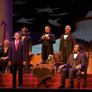 2 of 2: Hall of Presidents - Barack Obama, the new animatronic figure in the Hall of Presidents.
