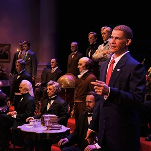 1 of 1: Hall of Presidents - Barack Obama at the Hall of Presidents. Copyright 2009 The Walt Disney Company.