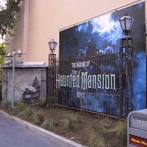 1 of 1: Haunted Mansion Movie Sets - Sign appears announcing the new sets