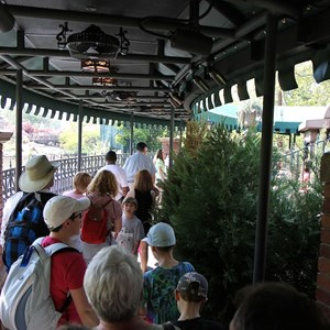 2 of 24: Haunted Mansion - Entering the new queue area
