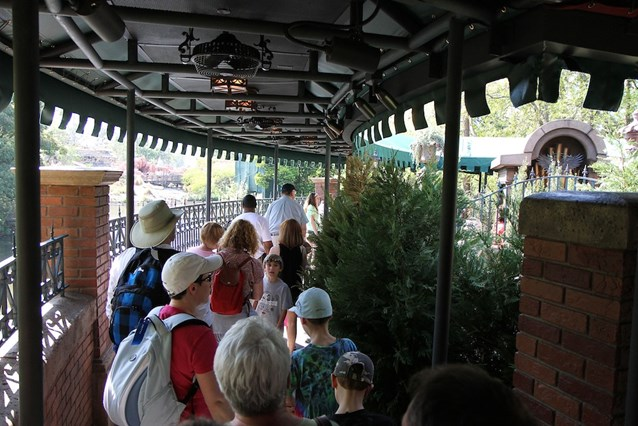 Haunted Mansion - Entering the new queue area