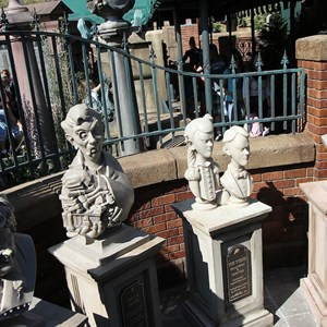 3 of 24: Haunted Mansion - Busts that are not yet in operation, but appear to be setup in a similar style to the mini-game that was tested back in April of 2010