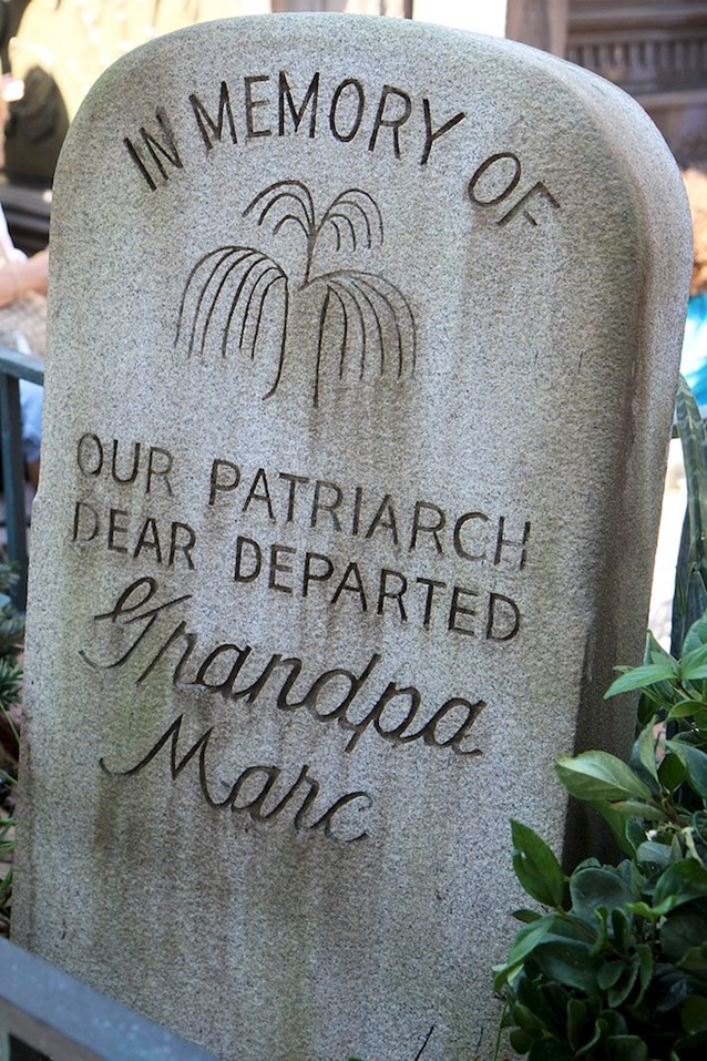 Haunted Mansion - A very nice touch, tribute to Marc Davis
