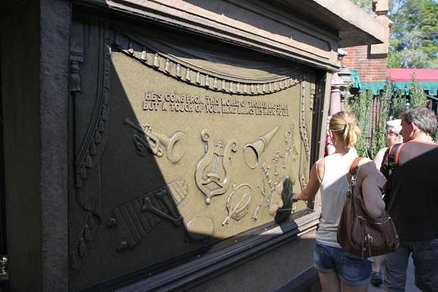Haunted Mansion - Musical surfaces - touch an instrument and it plays - you can get quite musical with this as other guests join in