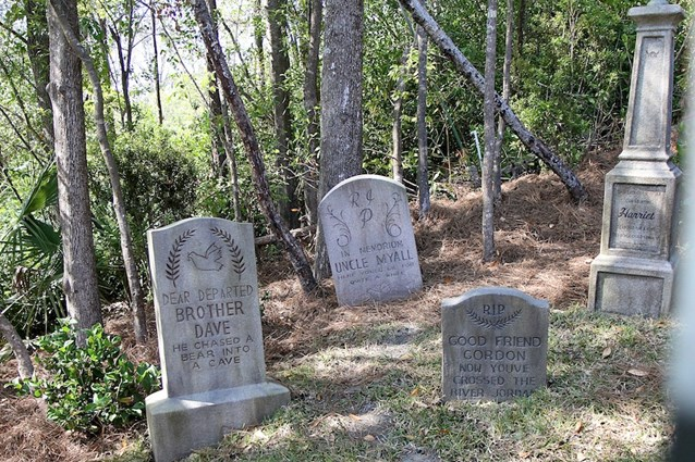 Haunted Mansion - Some of the old tombstones have returned to the hillside