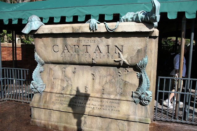 Haunted Mansion - The Captain tomb - has multiple sound effects and water jets that squirt out towards guests