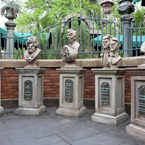 1 of 22: Haunted Mansion - New tombstone and graveyard layout