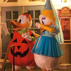 30 of 37: Haunted Mansion - Donald and Daisy duck in full costume