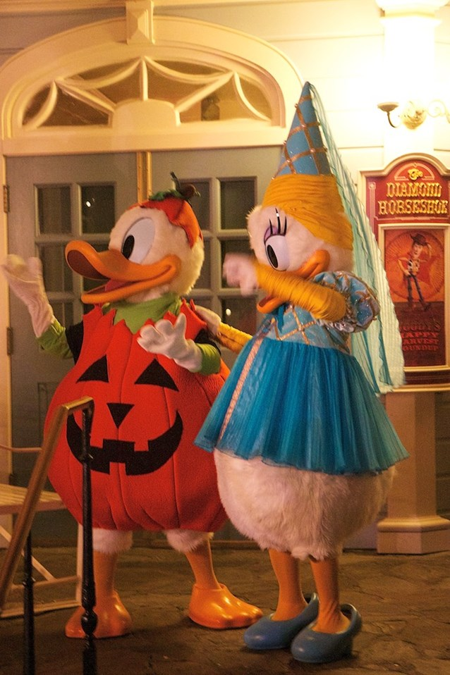 Haunted Mansion - Donald and Daisy duck in full costume