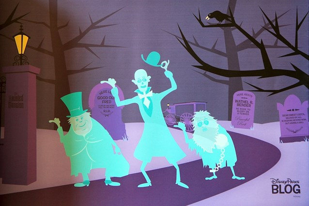 Haunted Mansion - Each guest received a great Haunted Mansion piece of artwork
