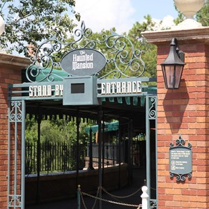 1 of 4: Haunted Mansion - New Haunted Mansion standby sign