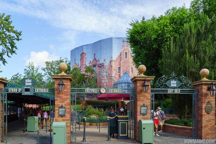 Haunted Mansion exterior refurbishment