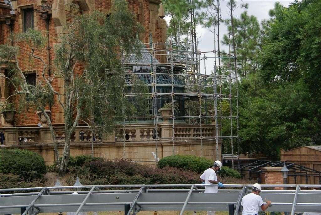 Haunted Mansion refurbishment photos