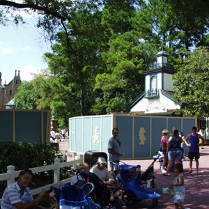 1 of 2: Haunted Mansion - FASTPASS installation at the Haunted Mansion