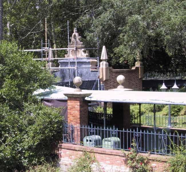 Haunted Mansion exterior refurbishment photos