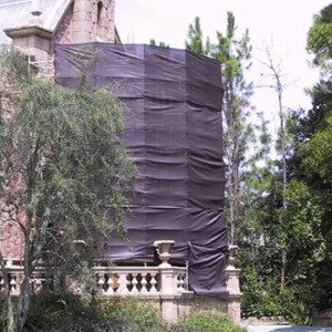 2 of 2: Haunted Mansion - Haunted Mansion exterior refurbishment photos