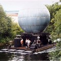 IllumiNations - This huge floating globe is the center of the IllumiNations Show, and is called the Laser Barge. For each show, it is brought out and secured in the center of the lagoon.